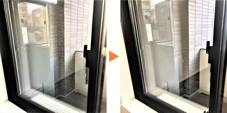 サッシ窓クリーニング/サッシ腰窓