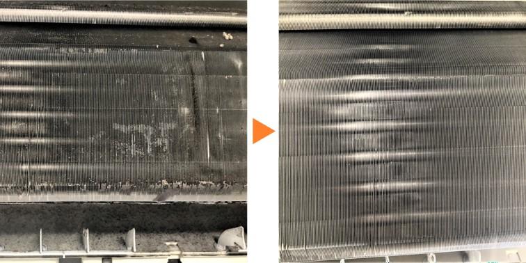 エアコンクリーニング/壁掛エアコン アルミフィン洗浄