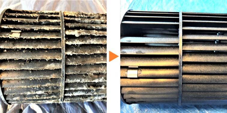 エアコンクリーニング/天井埋込AC内部ファン洗浄