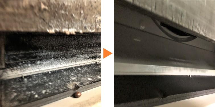 床置きエアコンクリーニング/床置形エアコン下部吹き出し口