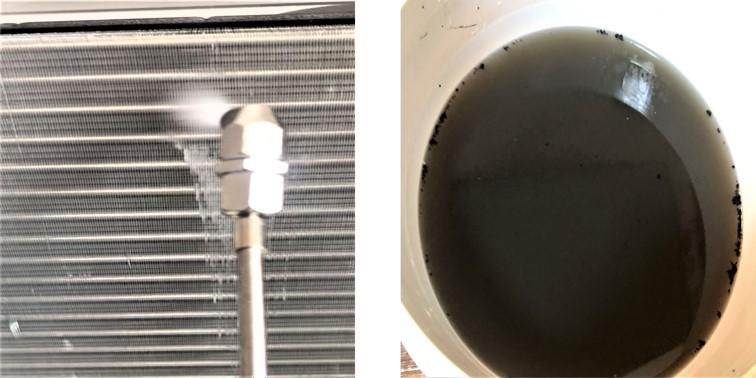 床置きエアコンクリーニング/床置形エアコン高圧洗浄&汚水