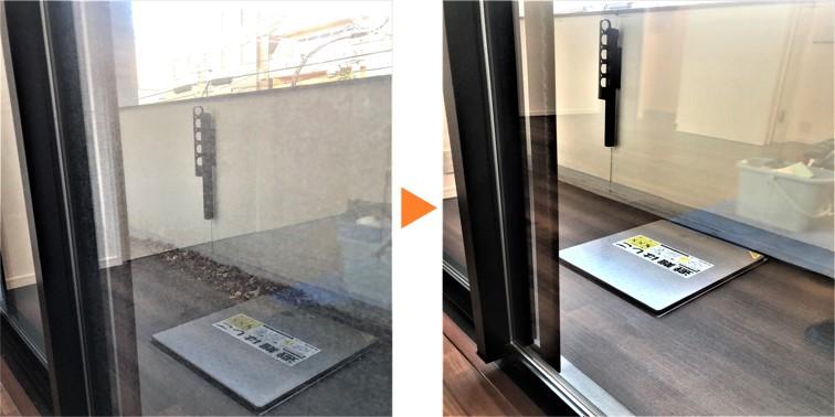 サッシ窓クリーニング/掃出し窓サッシ