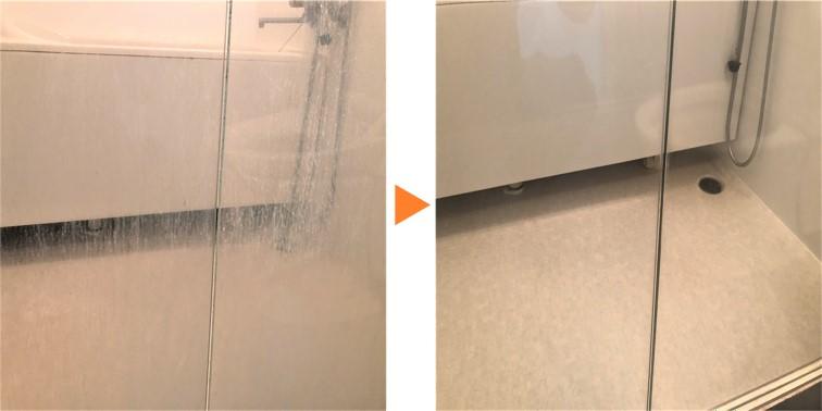 浴室強化ガラス扉BA浴室強化ガラスクリーニング