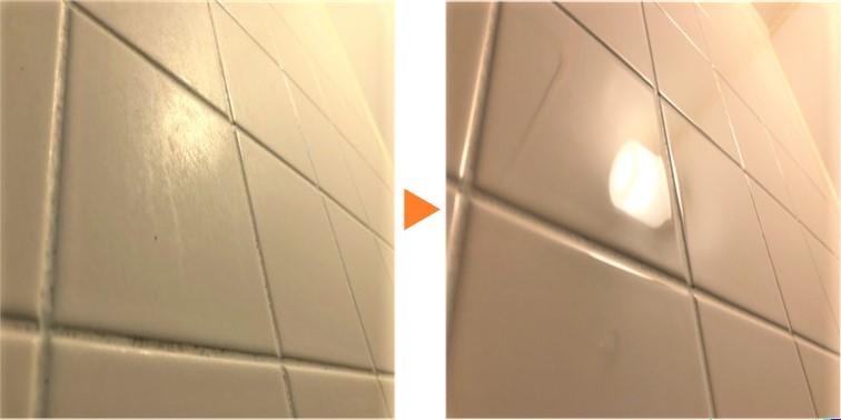 浴室クリーニング/浴室磁器タイル仕様 壁面